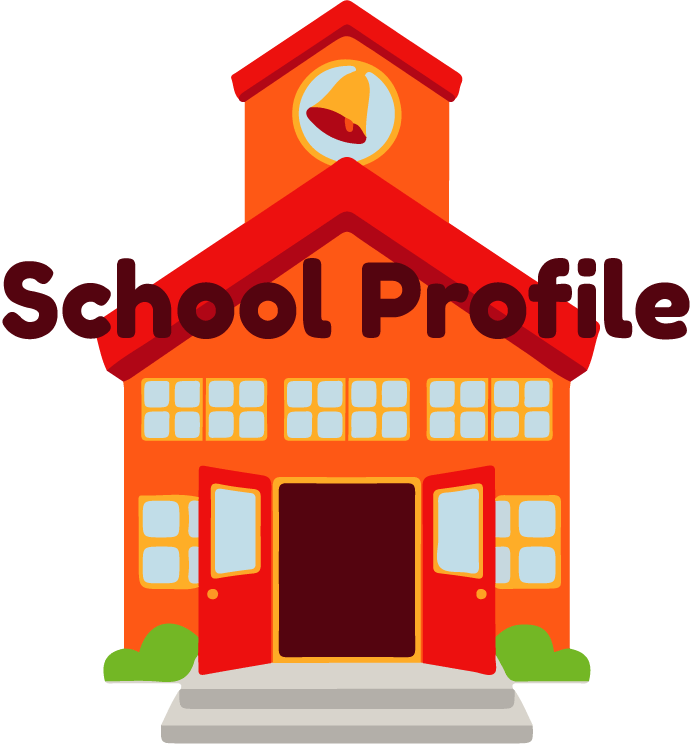 School building illustration with label